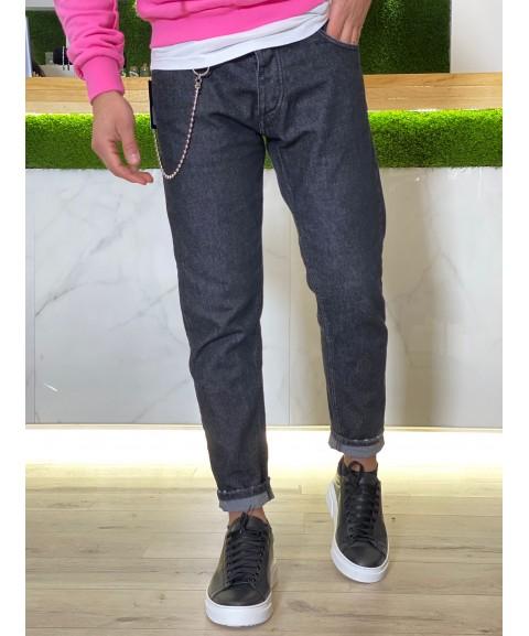 Jeans nero sfumato basic...