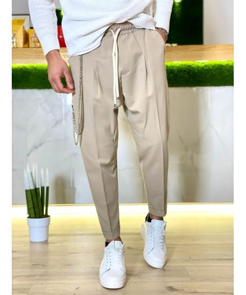 Pantalone con elastico in...