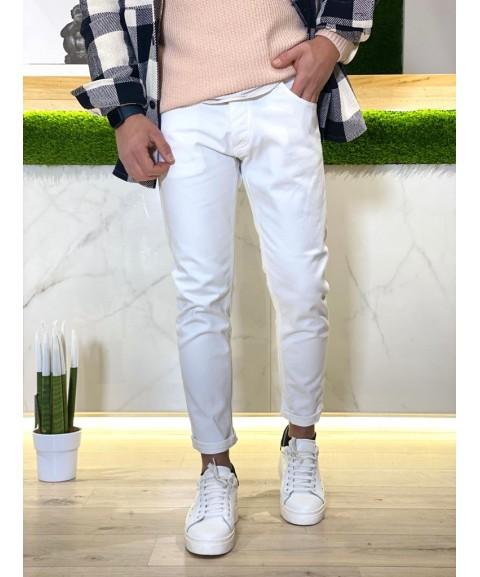 Jeans bianco elastico basic...