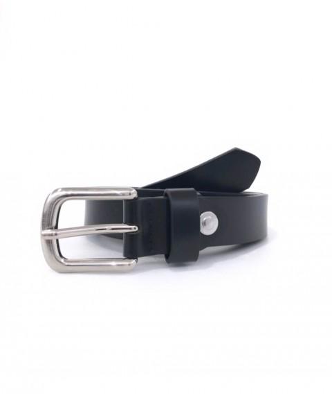 Cintura in pelle nera.