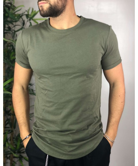 Shirt verde long fit.