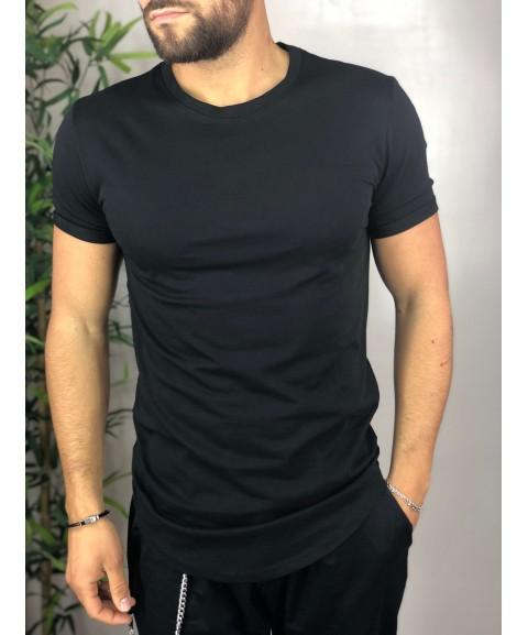 Shirt nera long fit.