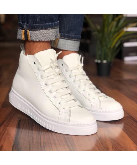 Sneakers alta in pelle...